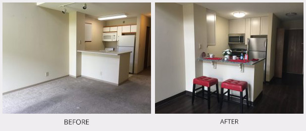 Before and After Apartment Remodel Twin Cities